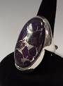 Oval Sugilite and Sterling Silver Ring