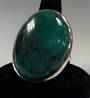 Big Oval Adjustable Turquoise Ring