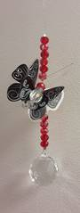 Black and Red Butterfly Suncatcher