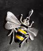 Large Sterling Silver Bee