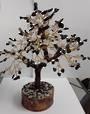 Crystal Spirits Rose Quartz and Black Tourmaline Crystal Tree
