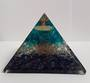 Large Lapis, Quartz and Blue Onyx Orgonite Pyramid