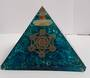 Large Blue Onyx with Metratons Star Orgonite Pyramid