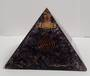 Large Amethyst with Quartz Point Orgonite Pyramid