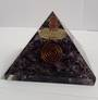 Amethyst and Quartz Point Orgonite Pyramid