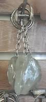 Green Amethyst Crystal Keyring