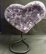 Amethyst Druzy Heart on Stand (ADH99)