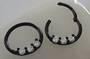 16g Multi Jewelled Black Surgical Steel Hinged Segment Ring 10mm
