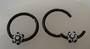 16g  Flower Black Surgical Steel Hinged Segment Ring 10mm