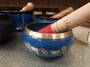 Blue Brass Singing Bowl 648grams