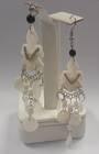 Handmade Shell Angel Earrings From Peru