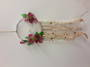 Wild Roses Flower and Crystals Dreamcatcher