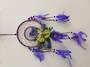 Flower and Crystals Purple Dreamcatcher