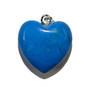 Blue Howlite Heart Pendant