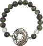 Dragon Bloodstone & Clear Quartz Dragon Bracelet