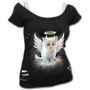 KITTEN ANGEL - 2in1 White Ripped Top Black S was $65 now $35