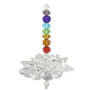 Lotus Chakra Suncatcher with Clear Crystals