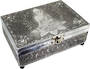 Meditation Buddha White Metal Box