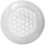 Selenite Sphere with Flower of Life Engraving