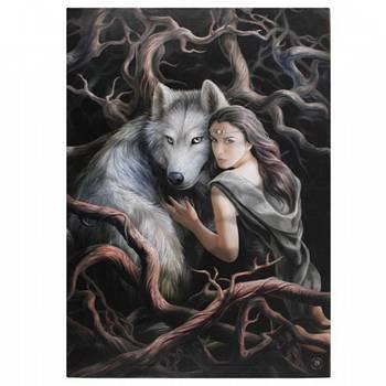 Soul Bond Wolf Canvas Anne Stokes