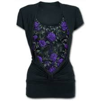 THE WATCHERS - Allover 2in1 Gathered Knot Short Sleeve M was $65 now $35