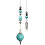 Turquoise Howlite Sphere Feather Pendulum (p606)