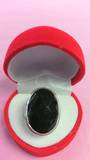 Large Oval Faceated Onyx Ring