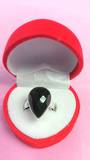 Teardrop Faceated Onyx Ring