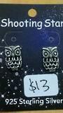 Silver Filgree Owl Studs