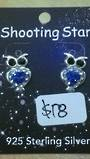 Crystal Evolution Blue Owl Studs