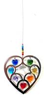 Chakra Hearts Clear Center Suncatcher
