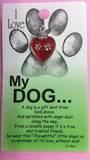 I Love My Dog Angel Brooch