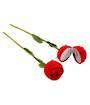 Red Rose on Stem Ring Box