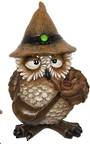 Old Wizard Owl With Pipe
