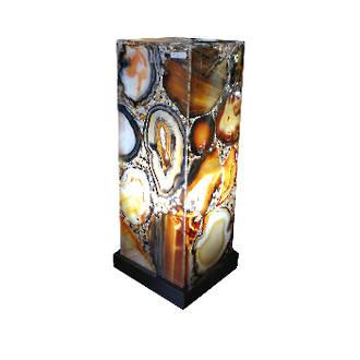 Agate Slice Lamp- Medium
