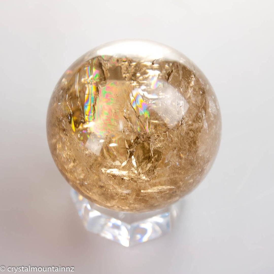 Natural Untreated Citrine Sphere