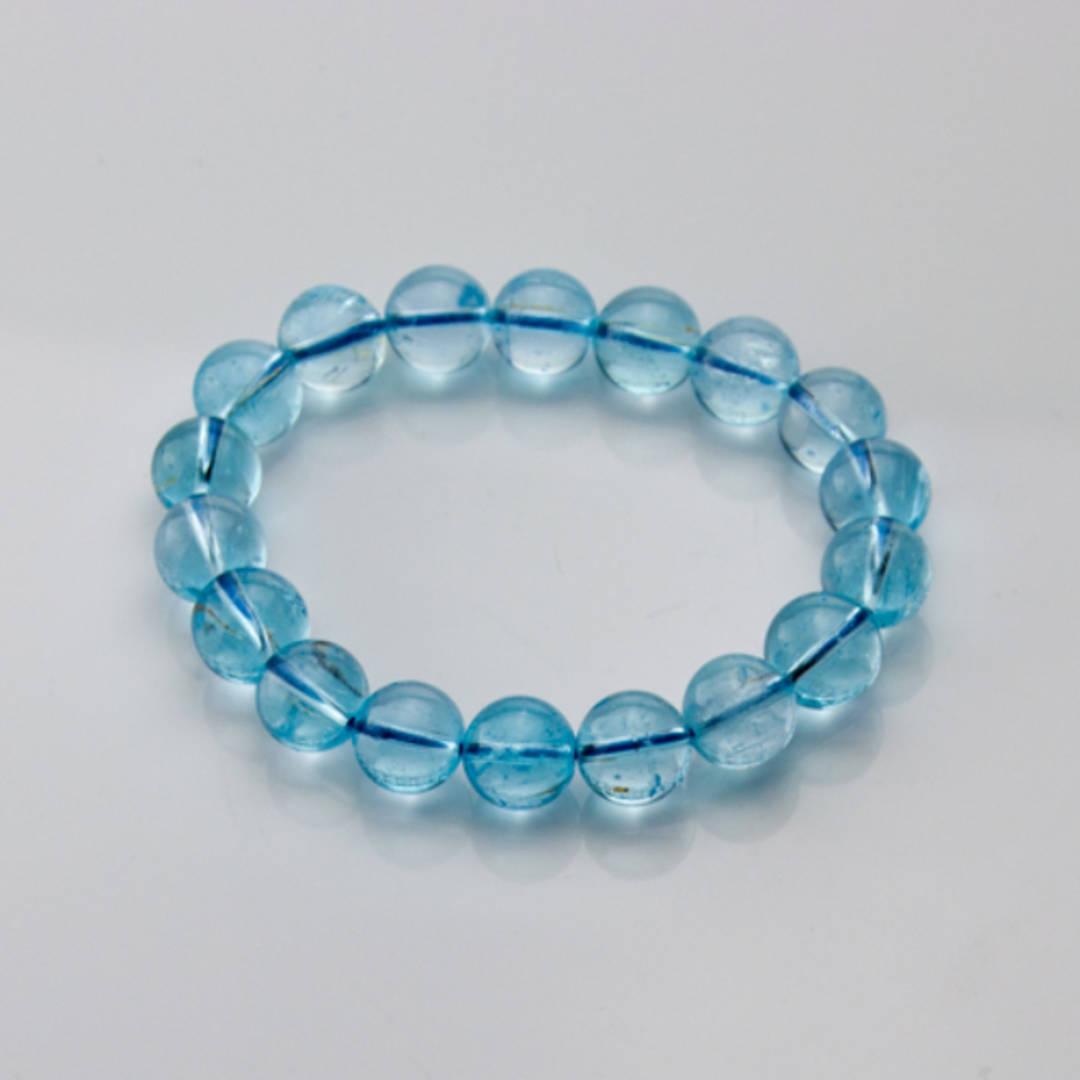 Blue Topaz Bead Bracelet