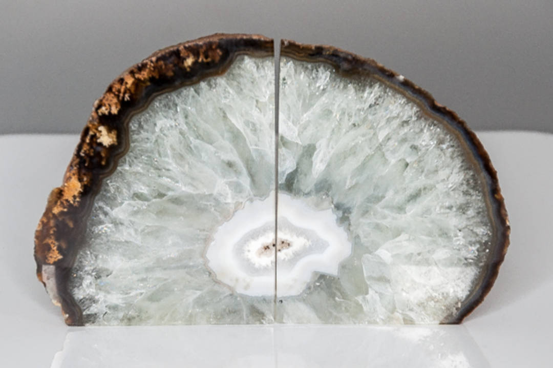 Agate Geode Bookend