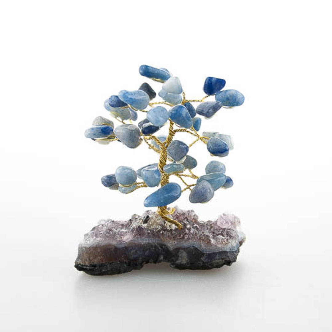 Aventurine Tree with Amethyst Base