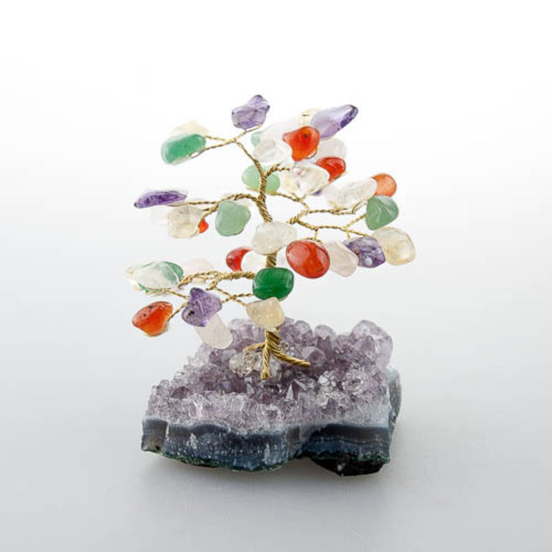 Mixed Tree with Amethyst Base