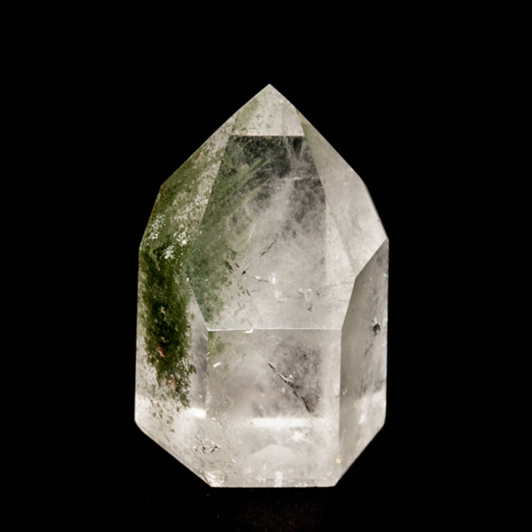 Clear Quartz With Green Chlorite Polished Point