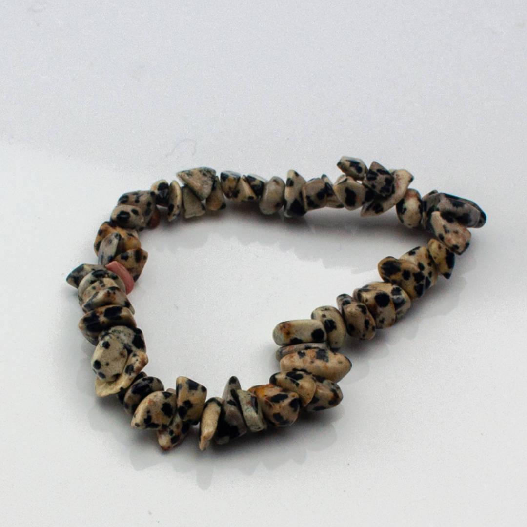 Dalmatian Jasper Chip Bracelet