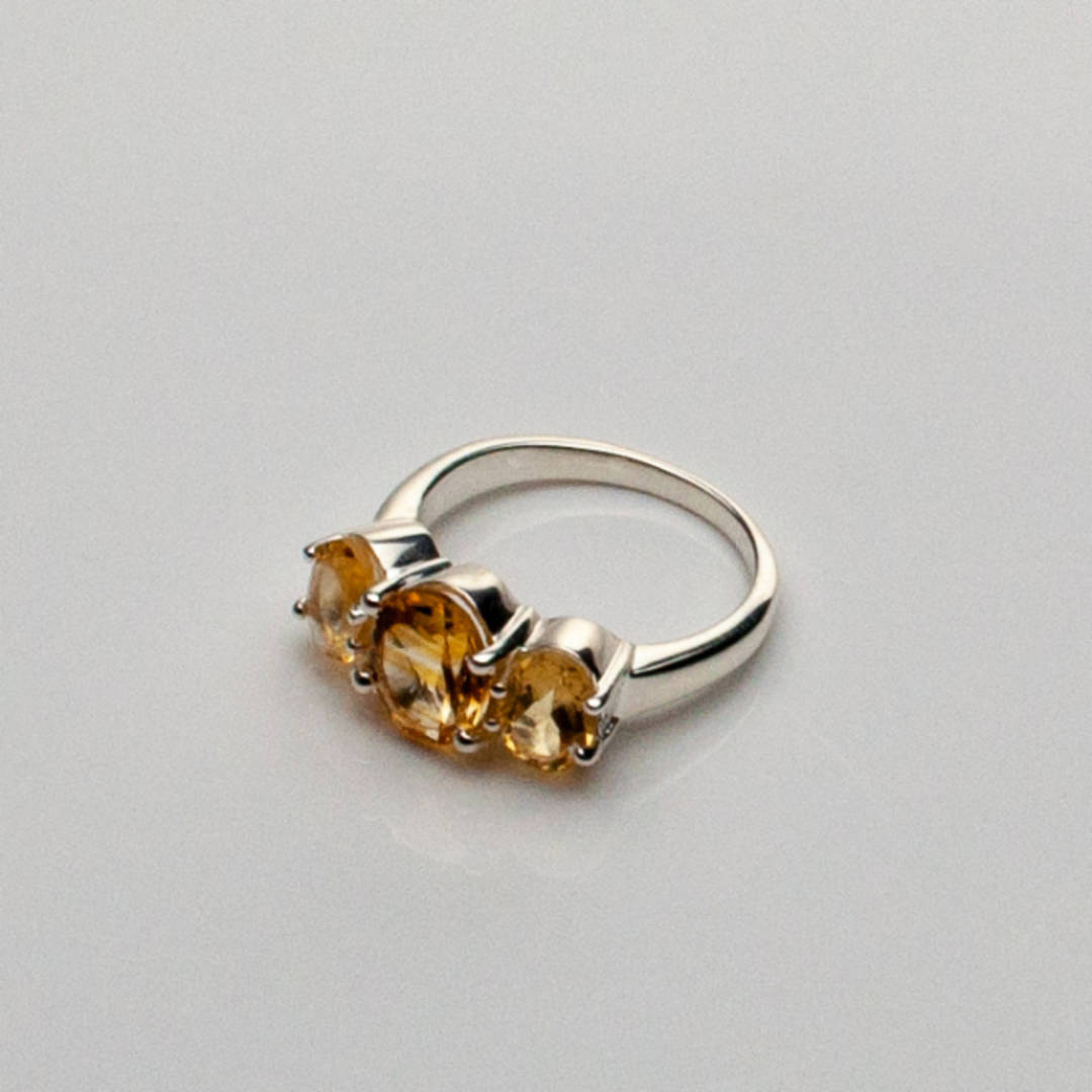 Faceted Citrine Ring
