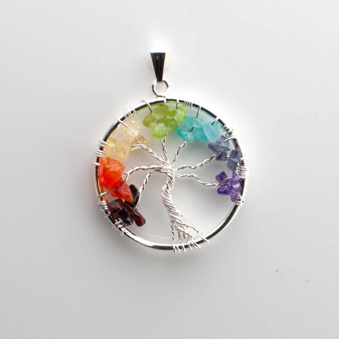 pendant tree of life Multi Crystal