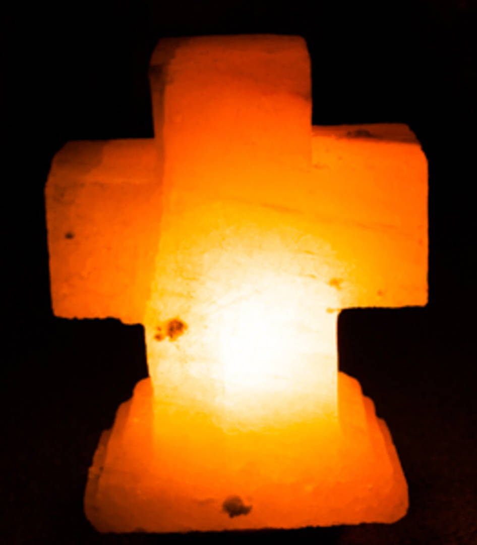 Himalayan Salt Lamp Cross