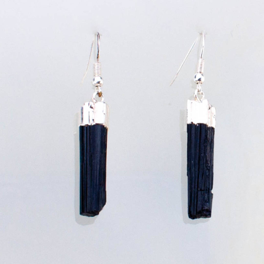 Tourmaline Rough Point Earrings