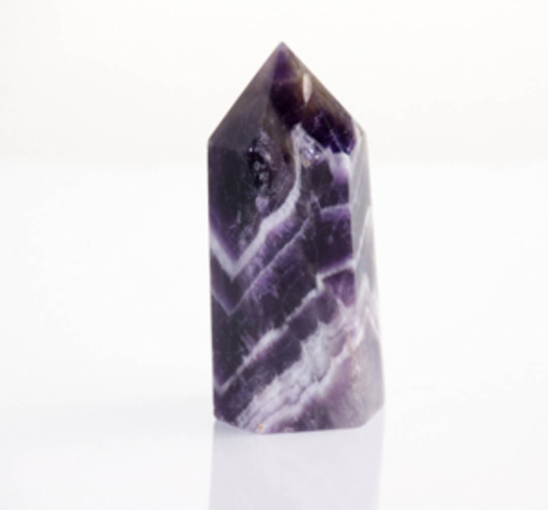 Amethyst Chevron Polished Point