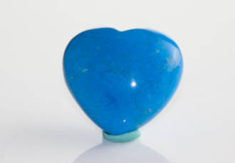 Howlite (Blue) Heart