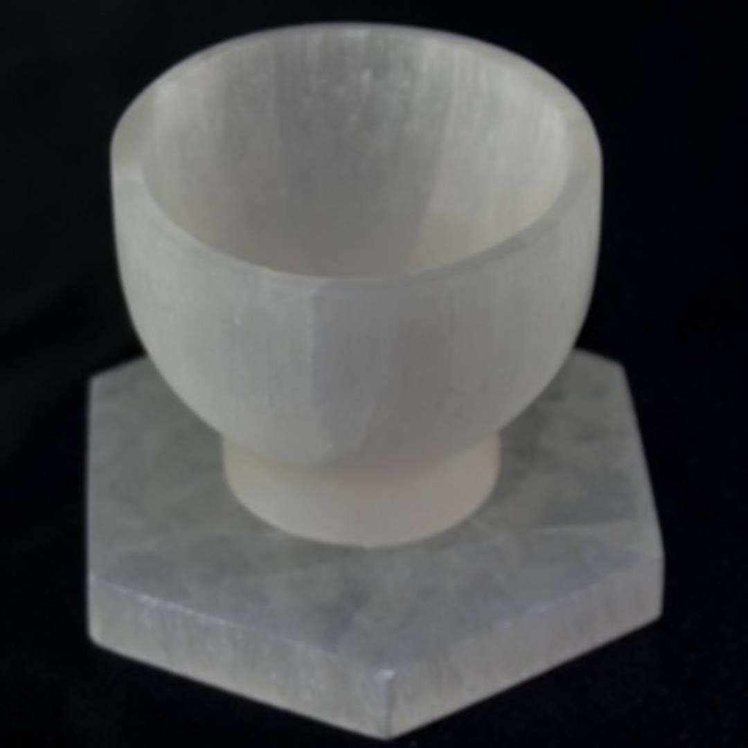 Polished Selenite Cup