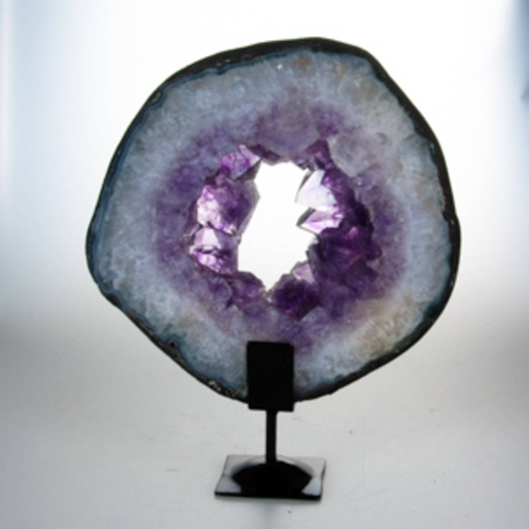 Amethyst Slice On Stand